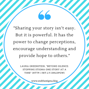 -Sharing your story isn_t easy. But it is powerful. It has the power to change perceptions, encourage understanding and provide hope to others. - See more at-